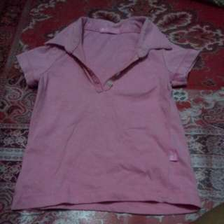 Pink Polo Shirt For Kids.