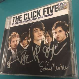 The Click Five autographed CD