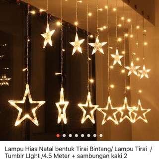 Lampu dekor bintang bisa sekitar 6x setting model nyalanya