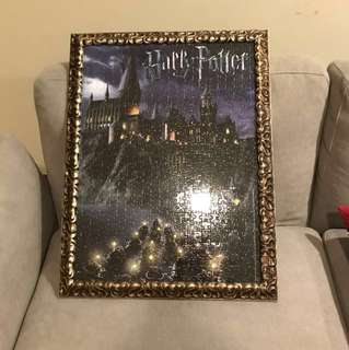 [wts] harry potter framed jigsaw puzzle