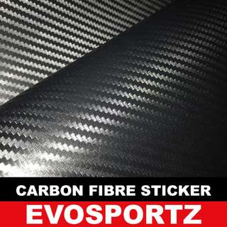 Carbon Fibre Sticker 190218