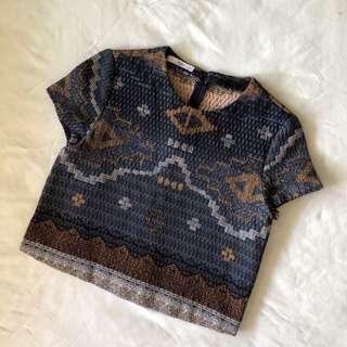 MNG Batik Crop Top