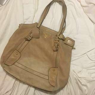 PRADA tote leather bag