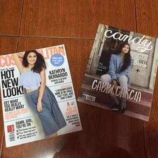 Candy and Cosmopolitan Magazines (Kathryn Bernardo & Gabbi Garcia)