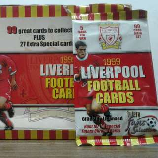 New old stock collectible Liverpool football cards