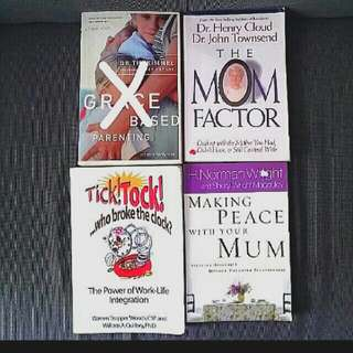 4 Bn Parenting Books: Grace Based Parenting -  Dr Tim Kimmel Mom Factor Dr Henry Cloud John Townsend Making Peace With Your Mum Steps To A Healthier Mom Daughter Relationship Tick Tock Who Broke The Clock? Power Of Work-life Integration