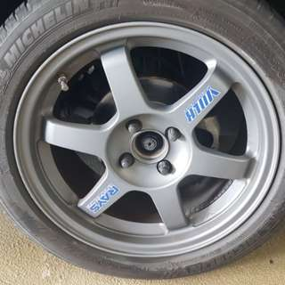 Volk Rays TE37 Michelin PS3