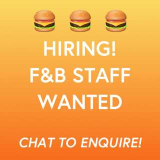 F&B Staff Needed at Orchard (Jamboree Rock Cafe)