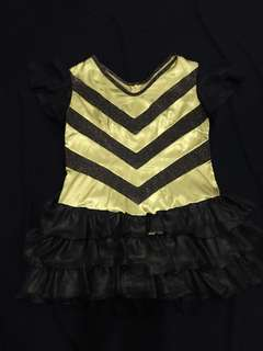 Dress black and gold