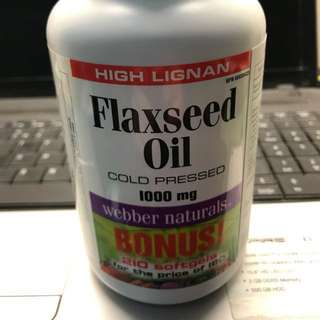 Webber naturals flaxseed oil 1000mg