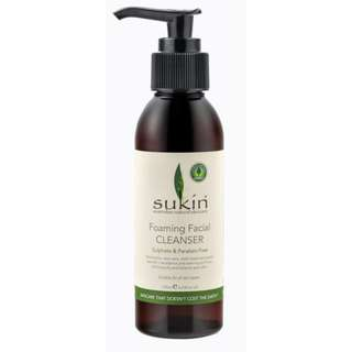 SUKIN FOAMING FACIAL CLEANSER 125ML - TWO FOR $12