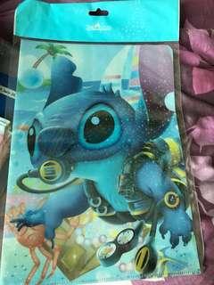 Hong Kong Disneyland Stitch A4 folder $10 each x2= $20