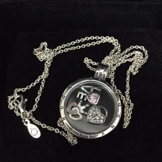 Pandora necklace with locket charms