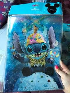 Hong Kong Disneyland Stitch A4 folder $10each x3= $30