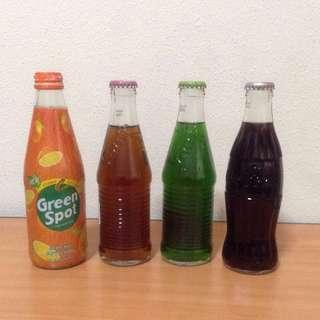Coke, Green Spot & Fanda Bottles