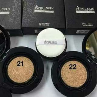 "APRIL SKIN 2.0( NEW )  AVAILABLE KOD 21 & KOD 22  Be flawless and have fresh looking face with the NEW April Skin Magic Snow Cushion 2.0 :) The HOTTEST brand in korea ""April  Skin"""