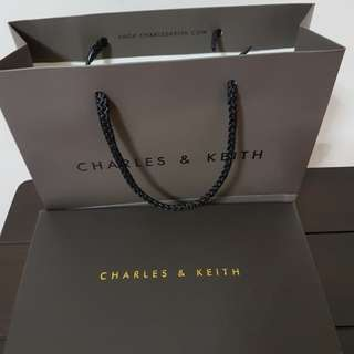 Charles &Keith empty box n paper bag