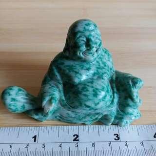 天然綠點石佛公雕刻刻擺件