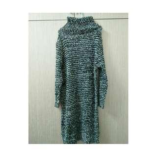 高領針織裙/洋裝