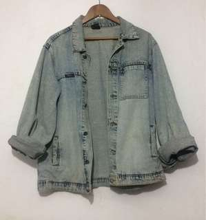 DENIM JACKET - Jaket jeans XL