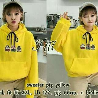 Sweater Pig Yellow Jumbo LM