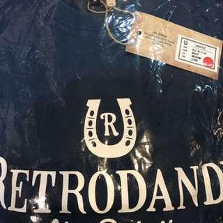 🚚 Retrodandy 藍色短t基本款 全新 m號