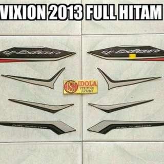 Striping Vixion 2013 Full Hitam