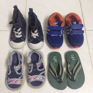 Combo Kasut Budak Umur 2 Tahun