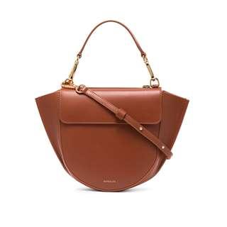 代購WANDLER Brown Hortensia Mini Leather Shoulder Bag
