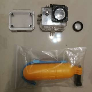 SJCAM sj4000 sj5000 sj7000 underwater housing + uv filter + bobber