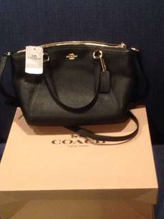 Coach Mini Kelsey bag black leather