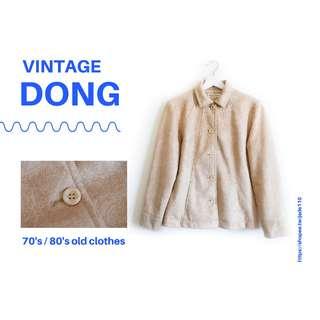 | 咚 咚 Vintage |日本古著-木木森工藝外套(你是我的文具風)