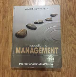 Introduction to management 12 (twelfth) edition WILEY John R. schermerhorn, Jr
