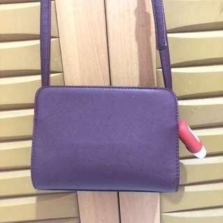 Stradivarius sling bag maroon