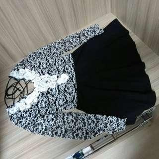 韓版蕾絲上衣洋裝