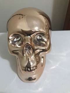 Rose gold skull money box