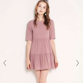ShopSassyDream TEAGAN DRESS MAUVE Size L