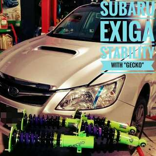 "Subaru Exiga: ""GECKO_Racing"" Performance Coilover"