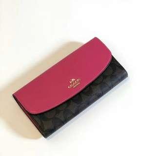 Coach Multi Long Wallet  Black Pink