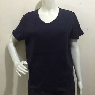 LANDS END BNWT dark blue plain tshirt/blouse large