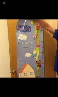 Peppa pig height chart #HUAT50SALE
