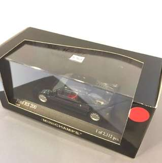1/43 Ford RS 200. Black. Minichamps.
