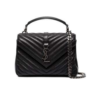 代購SAINT LAURENT Monogram Quilted Leather Shoulder Bag