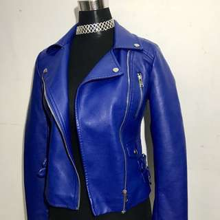 Forever 21 Blue Leather Jacket