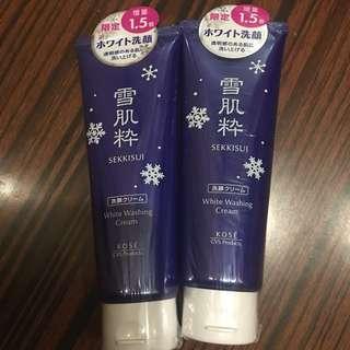 全新日本kose x 7-11雪肌粹洗臉乳