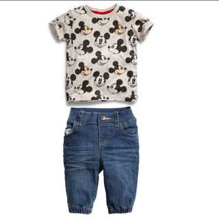 Mickey mouse shirt with jeans set