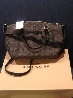 Coach Mini Kelsey bag  smoke brown