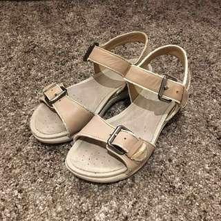 Geox Respira Nude Beige Sandals