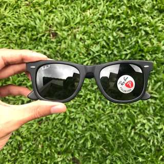 Original Ray Ban Wayfarer Classic RB2140 901S/58 50MM Medium Asian Fit Polarized.