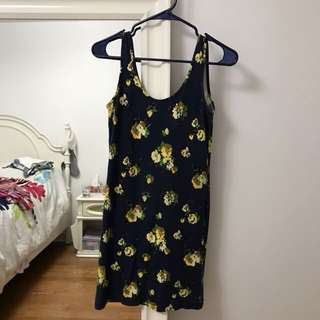 Obey bodycon navy dress size small